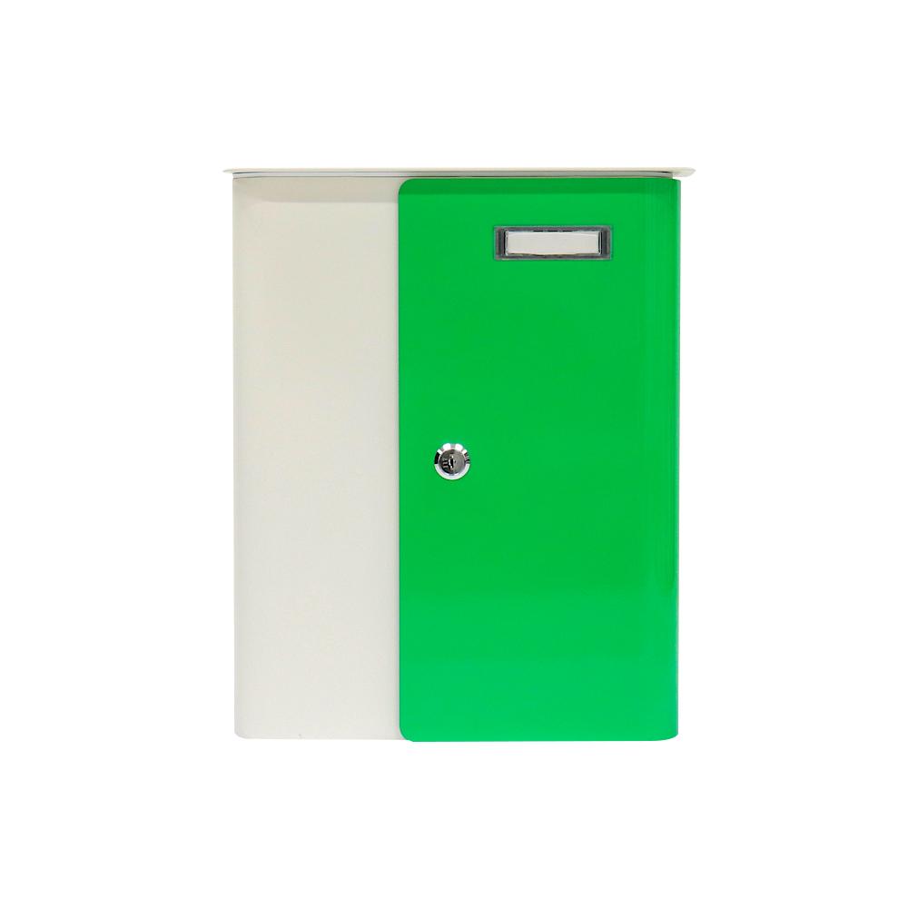 Rottner Briefkasten Splashy Weiß NeonGrün